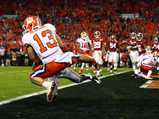 Clemson receiver Hunter Renfrow catches the game-winning