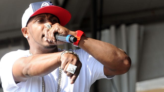 Mystikal performs during the 2011 New Orleans Jazz & Heritage Festival.