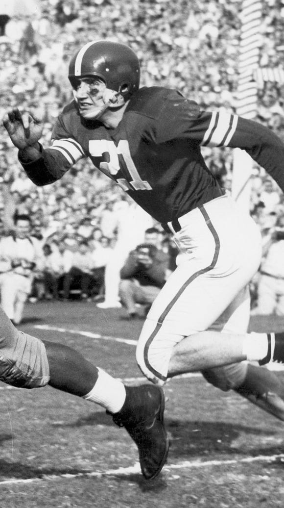 MSU quarterback Earl Morrall finished fourth in the