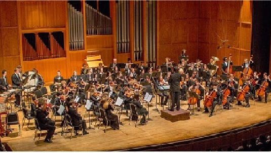 TYO Symphony and Dr. Alexander Jimenez Performing in Opperman Music Hall at FSU