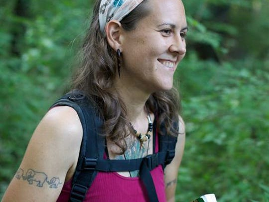 Abby Artemisia, a forager who works near Asheville,