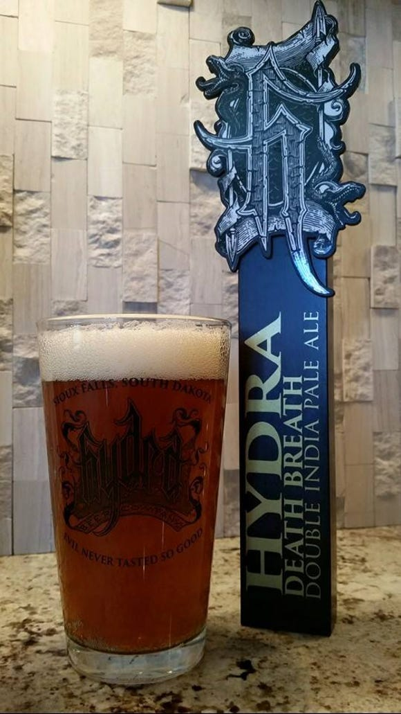 Tap handle for Hydra Beer's Death Breath double IPA.