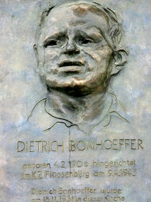 A metal plaque with a portrait of German priest Dietrich Bonhoeffer is displayed at the St. Matthaeus Church in Berlin on Feb. 4, 2006. The plaque is by artist Johannes Gruetzke.