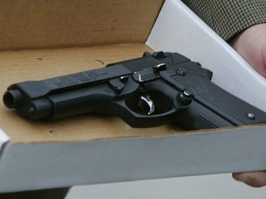 handgun stock image