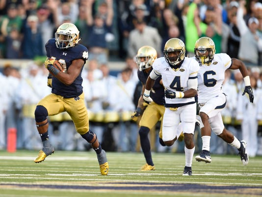 NCAA Football: Georgia Tech at Notre Dame