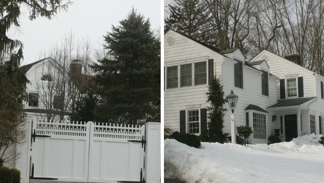 The New Castle house of Bill and Hillary Clinton (left) and the New Castle residence where Gov. Andrew Cuomo lives with his partner, Sandra Lee.