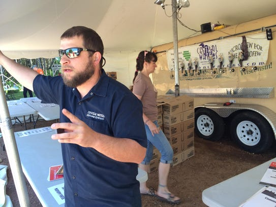 Anello Mollica, owner of Central Waters Brewing Company,
