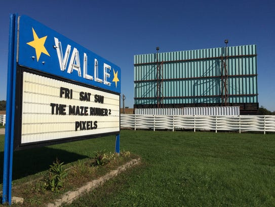 The Valle Drive-In sits just west of Newton, Ia.