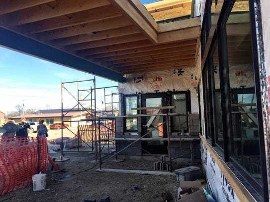 A new library is under construction in Big Sandy.