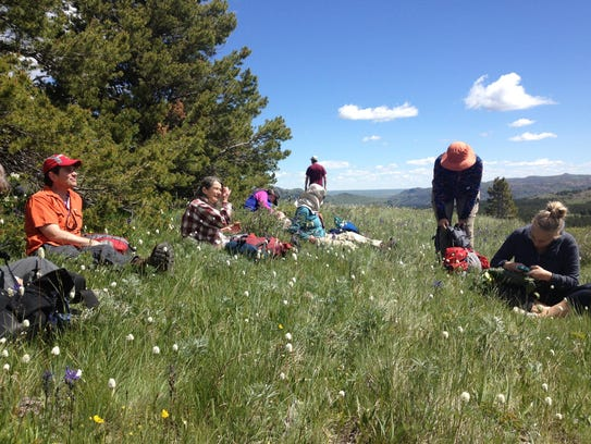 Hikers in the Badger-Two Medicine area take a break.