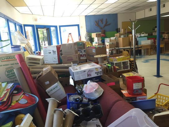The co-op preschool is filled with supplies and toys