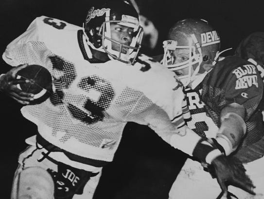Freehold's Joe ``The Jet'' Henderson rushed for 332