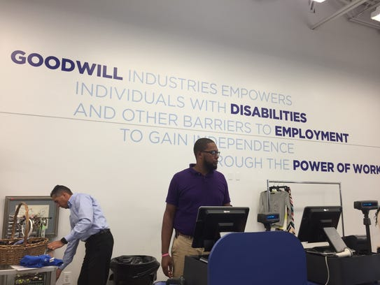Inside the new North Plainfield Goodwill store on Route 22.