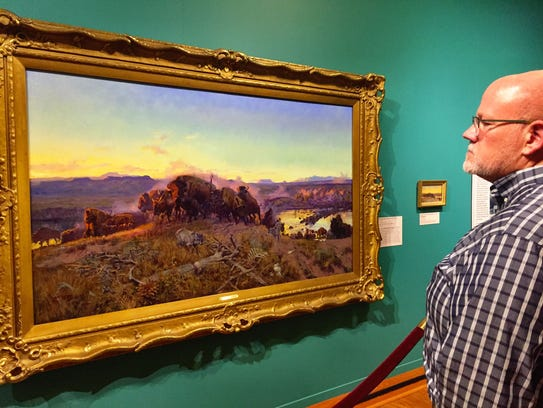 """CM Russell's """"When the Land Belonged to God"""" painting."""