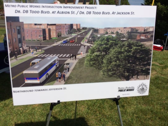 Rendering of proposed improvements to Dr. DB Todd Blvd
