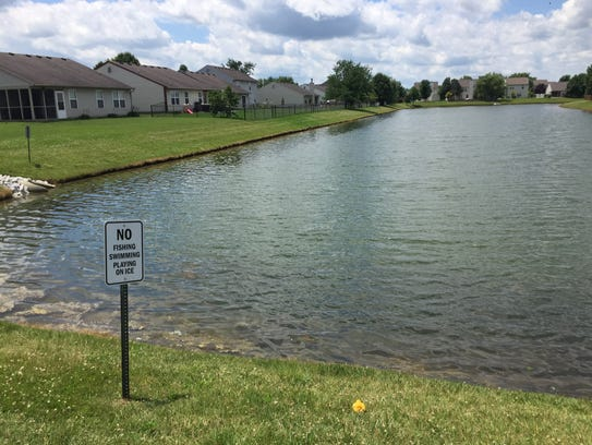 Shalom Lawson, 8, was found in this pond in the Creekside