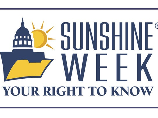 Sunshine Week is March 12-18 this year.