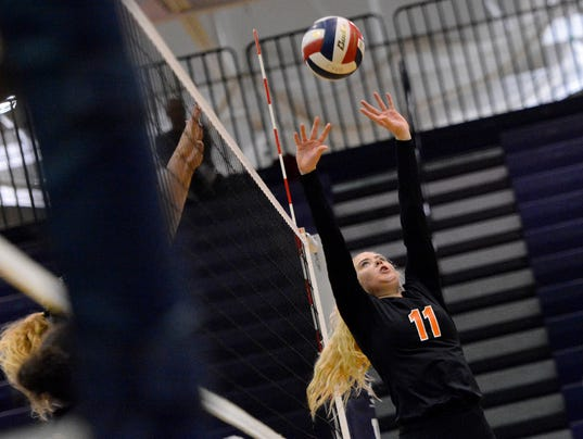 Central York vs Hempfield District 3 girls' volleyball semifinal