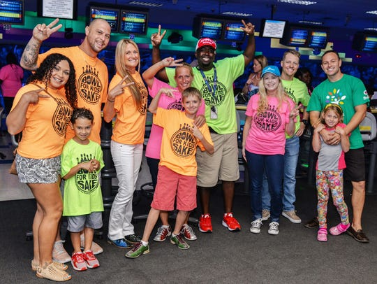 """The Comcast Cares Team at """"Bowl for Kids' Sake"""" in"""
