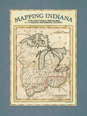 """Cover of """"Mapping Indiana."""""""