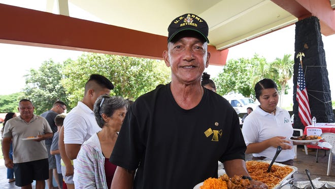 U.S. Army veteran Tony Lukeala during a 26th anniversary of the Gulf War welcome home BBQ at Governor Joseph Flores Beach Park on Aug. 20, 2017.