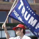 A Trump supporter at the Republican National Convention in Cleveland.