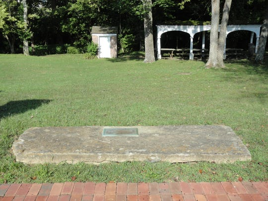 The legendary one-and-one quarter ton Grant stone measures nine feet by 43 inches and is seven inches thick. Is rests behind the Grant Homestead.