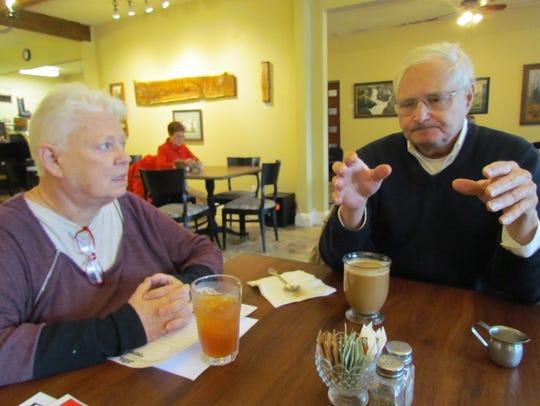 Carol Zolkoske of Stayton, left, and Michael Mann of