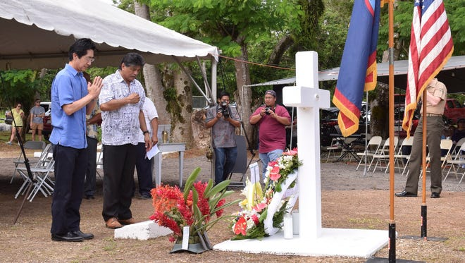 A memorial service was held in Yigo on Aug. 8 to honor the 45 victims of the Chagui'an Massacre that occurred during the waning days of the Japanese occupation in 1944.