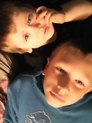 Jacob O'Connor, 10, right, with his brother Dylan,