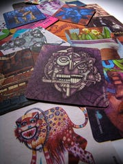 Collective Arts Brewing coasters mirror the art that