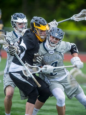 Brody Snow, right, is one of Burlington's key returnees for the 2018 high school boys lacrosse season.