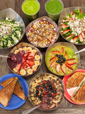 A selection of foods sold at Vitality Bowls.