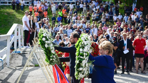 Crown Prince Haakon of Norway, left, and Prime Minister