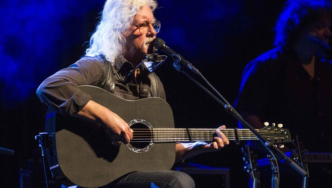 Arlo Guthrie performs Jan. 31 during the Arlo Guthrie: Alice's Restaurant 50th Anniversary Tour at the Ferst Center for the Arts in Atlanta.