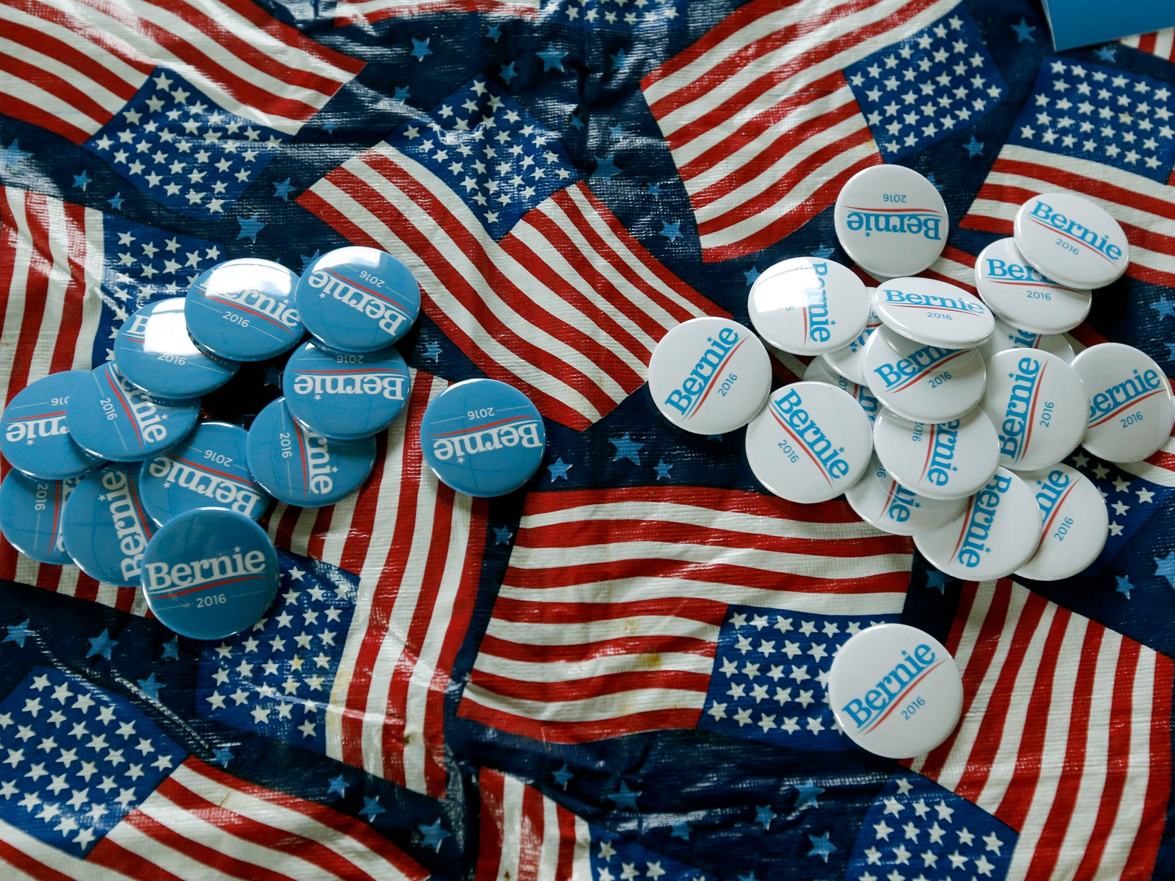 """""""Undecided Rally for Bernie Sanders and Hillary Clinton"""" at the American Legion Post on Buffalo Road in Riga."""