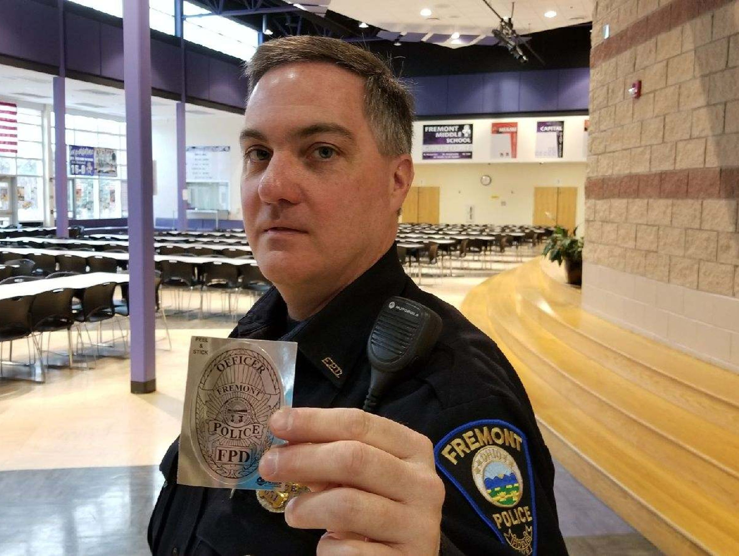 School Resource Officer Jim Burkin has been handing