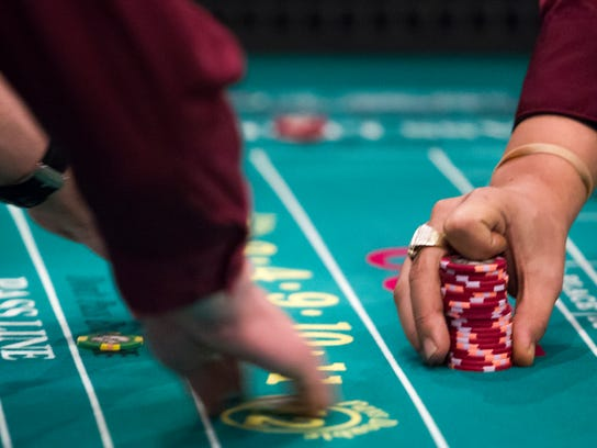 Craps is played at Dover Downs Casino earlier this