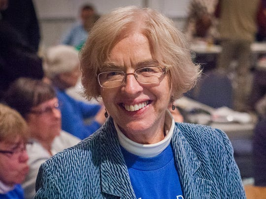 State representative Sue Errington celebrates incoming