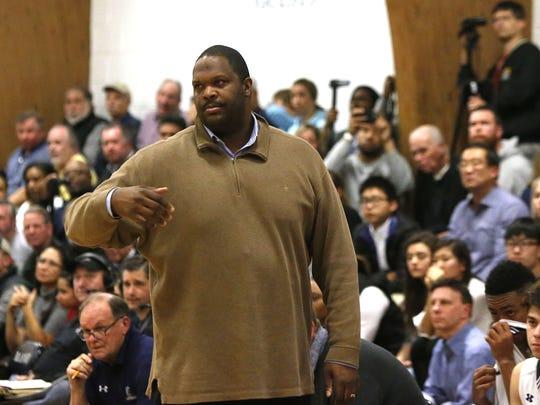 ranney School head coach Tahj Holden during boys basketball