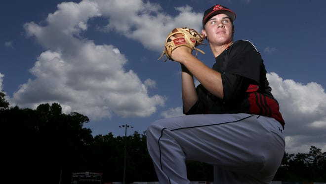 NFC senior Cole Sands, the 2015 All-Big Bend Pitcher of the Year.