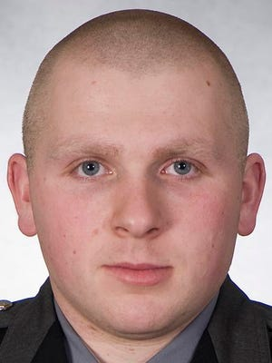 This undated photo provided by the Ohio State Highway Patrol shows Cody Nevers. Nevers, an Ohio trooper who admitted having sex with a woman in a cruiser while on duty has resigned as the State Highway Patrol moved to fire him. Records released Wednesday, Feb. 18, 2015, show 23-year-old Cody Nevers met the woman at a crash scene, developed a relationship and eventually agreed to her request to have sex in a cruiser at a roadside pull-off area while he worked overnight for the Mt. Gilead post. (AP Photo/Ohio State Highway Patrol)