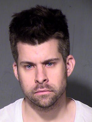 Jared Blackstone, 31, was arrested Thursday, May 7, on suspicion of luring a minor and booked into the Fourth Avenue Jail shortly after, Goodyear police said.