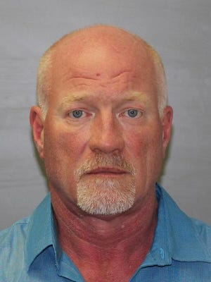 This photo provided by the New York State Police shows Gene Palmer on Wednesday, June 24, 2015. The maximum-security prison guard is believed to have delivered tools inside frozen meat to two inmates before they escaped was arrested on Wednesday, authorities said.