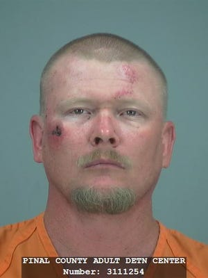 Michael D. Etheridge was arrested Monday, and faces charges of aggravated assault.