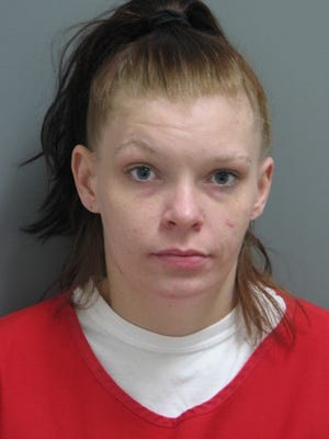 Autumn Hitchens, 27, was arrested for robbery and motor vehicle theft.