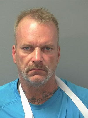 Tom Starrett, 51 of Henderson, is facing two felony charges after robbing a business Friday August 5 in Mesquite.