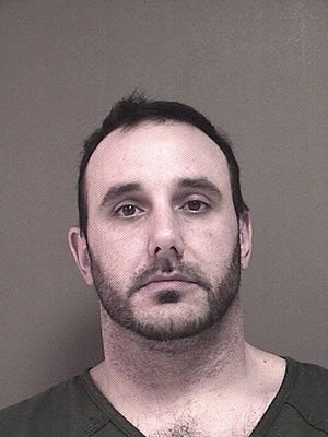 Joshua J. Rickline, 38, of Easton, Pennsylvania, is seen here in his booking photo at the Ocean County Jail in Toms River where he is being held on $25,000 bail.