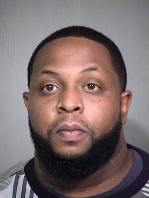 The FBI says its terrorism task force arrested Derrick Thompson of Phoenix. Jail records show he was booked into the county jail on Dec. 20, 2016, on suspicion of assisting a criminal syndicate and misconduct involving weapons.