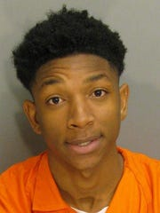 Andrew Sword Jr is charged with robbery first degree.